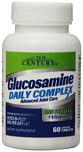 21st Century One Daily Tablets - 21st Century Glucosamine Daily Complex Plus D Tablets, 60 Count