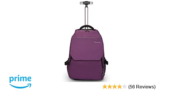 Amazon.com  19 inches Large Storage Multifunction Waterproof Travel Wheeled  Rolling Backpack by HollyHOME 31c5c01ee247c