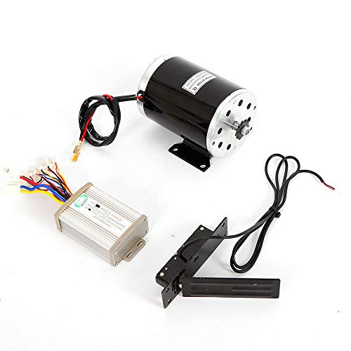 CNCEST Electric Bicycle Motor Kit 48v 1000w Electric Bike Motor and Speed Controller DC Brush Electric Scooter Go-Kart Mini Bikes E-Bike Motor Kit Chain Drive 11 Teeth Sprocket