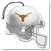 Licensed NCAA Texas Longhorns Nu-Car Scent Helmet Shape Air Freshener 3 Pack Set (Gift Box Included)