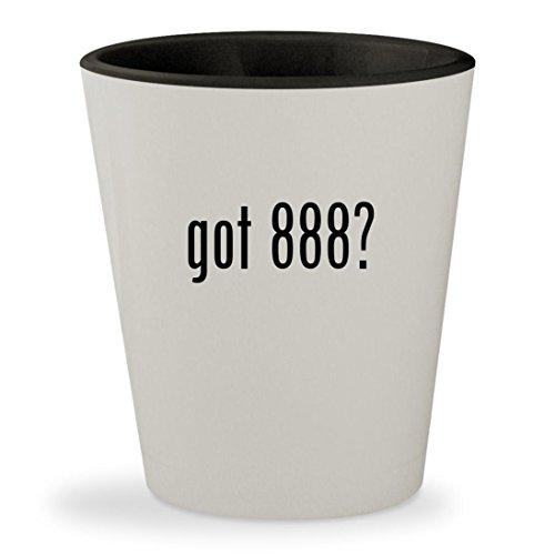 got 888? - White Outer & Black Inner Ceramic 1.5oz Shot Glass