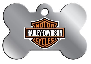 Id Tag Large Bone (Novelty Pet I.D. Tag Harley Davidson Bone Large)