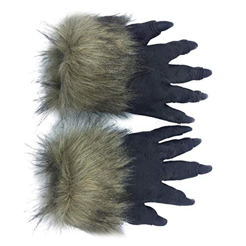 Halloween Party Latex Horror Animal Wolf Gloves Costume Masquerade Props Accessories (G, 2 x Gloves)