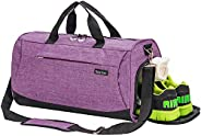 Sports Gym Bag with Shoes Compartment Travel Duffel Bag for Men and Women…
