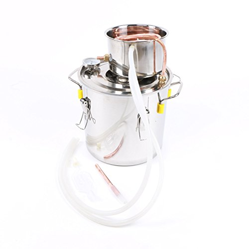 Home Distilling Kit- 10L Still, Make Distilled Spirits at Home, Moonshine, Water, and Whiskey Distilling Equipment, a U.S. Solid (10l Wine Kit)