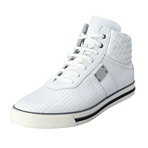 Gianni Versace Men's Leather Hi Top Sneakers Shoes US 12 IT - Men Versace Top