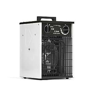 Trotec TDS 20 - Calefactor eléctrico con 3 etapas, desde 1,65 kW hasta 3,3 kW