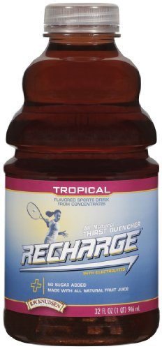 R.W. Knudsen Family Recharge Tropical Flavored Sports Beverage Mix, 32 Ounce (Pack of 12)