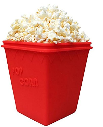 Microwave Popcorn Popper Silicone Bowl Healthy Choice BPA Free Dishwasher safe Container Kitchen Cooking Tool Easy to Cook Healthy Snack Bowl Movie Party Popcorn Maker By Pops
