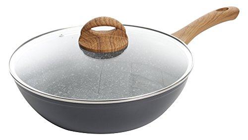 (Oster Collington 10in Covered Non Stick Saute Pan, Gray)