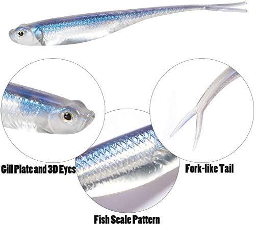 "Deps 6/"" Sakamata Shad Soft Jerkbait Fluke Bass Fishing JDM Bait Select Color"