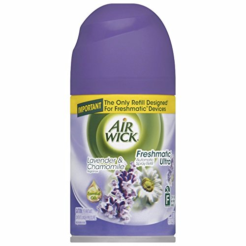 Air Wick Freshmatic Automatic Spray Air Freshener, Lavender and Chamomile Scent, 1 Refill, 6.17 Ounce (Pack of 18) by Air Wick