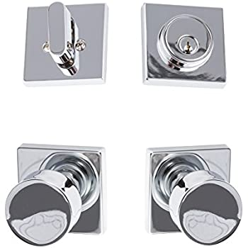 Sure Loc Hardware BG100 H 26 Bergen Interior Trim Door Knob, Polished Chrome