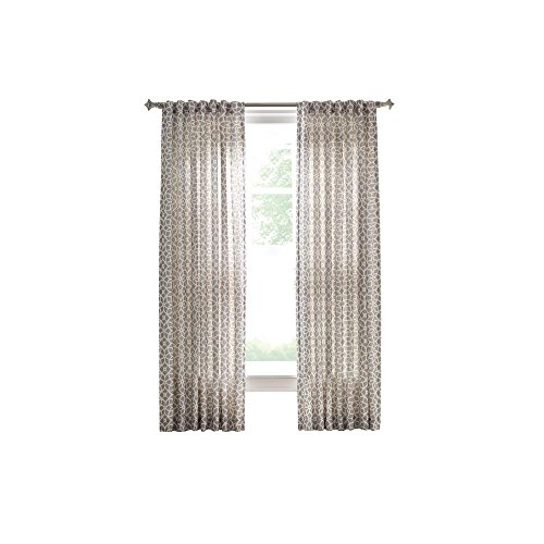 Cement Gray Full Bloom Back Tab Curtain - 54 in. W for sale  Delivered anywhere in USA