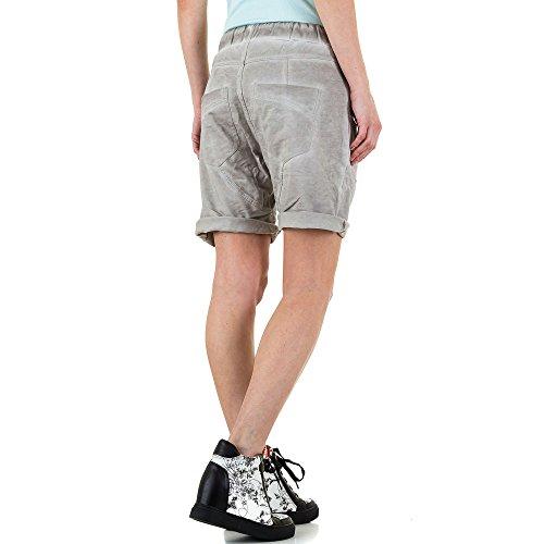 Boyfriend Shorts Für Damen , Grau In Gr. M bei Ital-Design