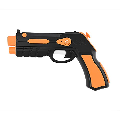 fosa AR Game Gun, Bluetooth AR Toys Gun, Target Games Augmented Reality VR Game Controller for Video Game Connecting Mobile IOS Apple Samsung Galaxy series and other Android Smart Phone (Orange) by fosa