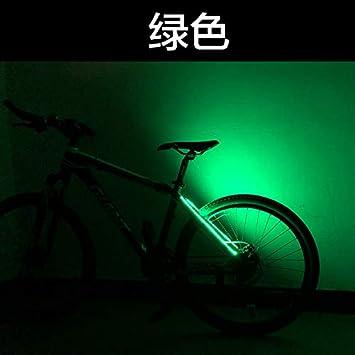 PLANQING Bicicleta Decoración Rueda Luces,Bicicleta Luces Traseras Decorativas Bicicleta De Montaña Luz De Advertencia Cuadro Luces Traseras Pegadas, Seguridad Y Advertencia, Luz Verde: Amazon.es: Deportes y aire libre