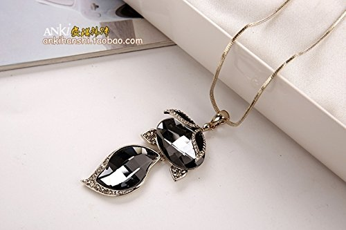Style Decorative Lanyard - Generic crystal love fashion new Korean fashion style jewelry sweater chain lanyards _payments_ decorative pendants sweater