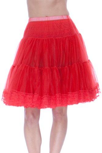 Malco Modes Knee-Length Chiffon Petticoat Crinoline Slip, for 50s Costume