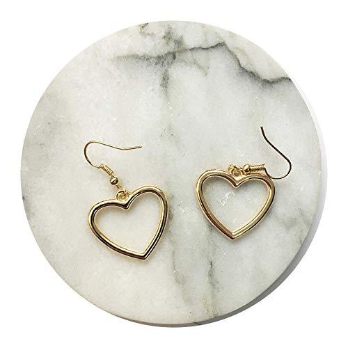 Earrings For Women Gold Silver Jewelry Pendant Trend Gift Hanging Dangler Eardrop Clasp Heart Simple,1