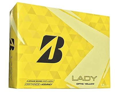 Bridgestone Golf 2015 Lady Precept Golf Balls (Pack of 12), Yellow (Renewed)