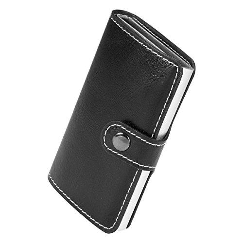 Automatique up Cartes Manchda Hommes Porte Titulaire Carte Noir Entreprise Argent Crédit Monnaie Blocage Slim Pop Rfid De q7gTq8vw