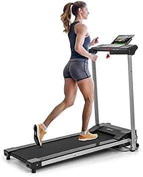 Klarfit/Treado Active/Cinta de correr plegable 1,1 PS de potencia Altavoces Sistema AudioConnect 3 programas de entrenamiento Velocidad regulable de 10 km//h Negro Entrenamiento cardio