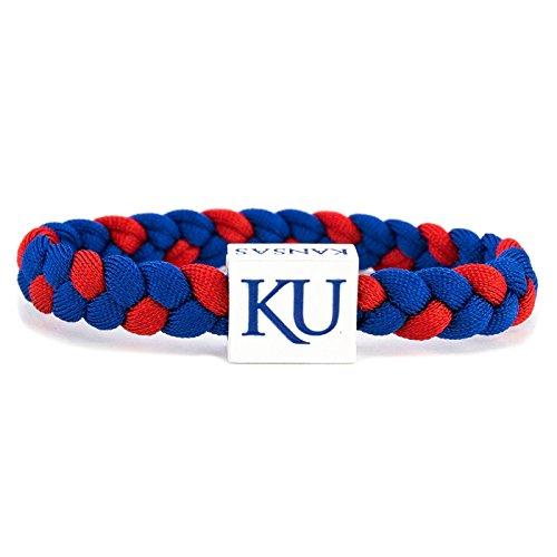 Glass-U NCAA Game Day Nylon Woven Bracelet - Kansas Jayhawks (Ku Basketball Hoop)