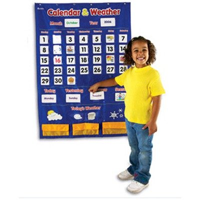 Learning Resources Calendar and Weather Pocket Chart | Computers And Accessories