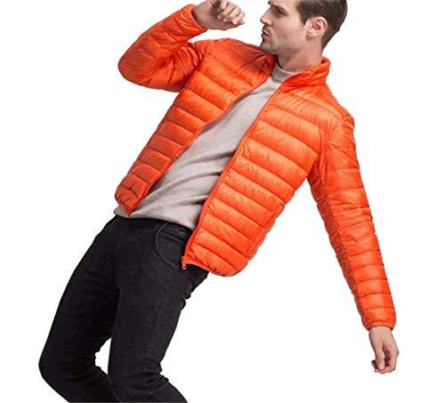 Uomo Ragazzo Imbottito inverno Da Stile Autunno Trapuntato Arancia Giacca Collo Huixin PnF7qaBwx