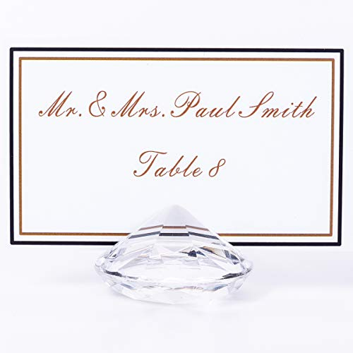AiFanS Table Place Card Holdes(Clear,4cm Set of 12) (Holder Stand Holiday Card)