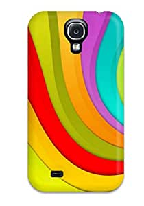 Fashionable EHmeAwE2925QLKxw Galaxy S4 Case Cover For Happy Wavy Colors Protective Case