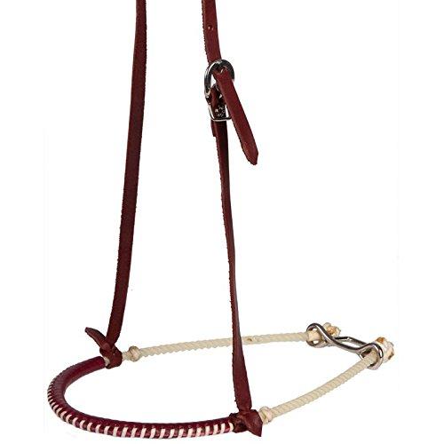 (Oxbow Tack Single Rope Leather Covered Tack Noseband)