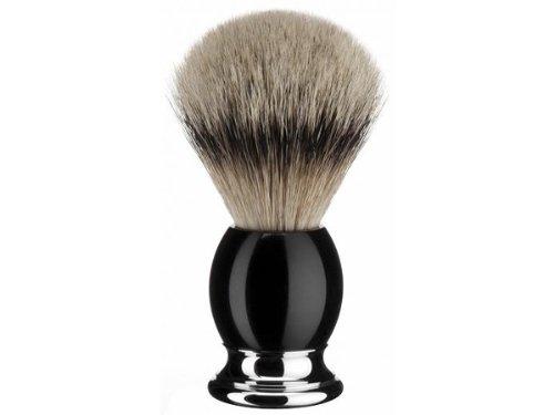 Muhle Sophist Silvertip Badger Shaving Brush, Black, 93K44 by Muehle