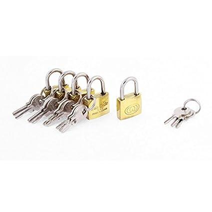 eDealMax la puerta del gabinete de bloqueo de seguridad candado de latón 5pcs tónica W Keys - - Amazon.com