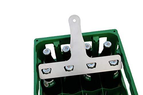 Deggelbam Flessenopener voor mannen, 4 stuks, voor 0,5 l, cadeau voor mannen, bier