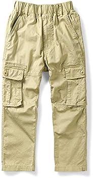 OCHENTA Boy's Lightweight Pull on Cargo Pants, Cotton Casual Sl