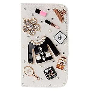 BuW Cute Girl's Makeup Pattern Leather Case for iPhone 4/4S, iphone 4, iphone 4s cases, iphone 4 cases, iphone cases