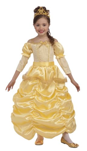 9-10 Year Old Halloween Costumes (Forum Novelties Beautiful Princess Costume, Gold - 67571 Child Medium 8-10)