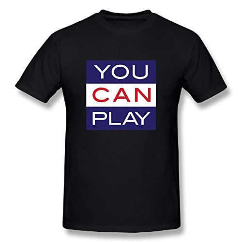 You Can Play Cotton Mens T-Shirt Short Sleeve