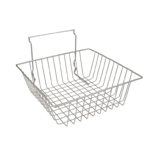12'' x 12'' x 4''H Shallow Slatwall Basket 3 Pcs - Chrome - Fits All Slat Panels by The Competitive Store