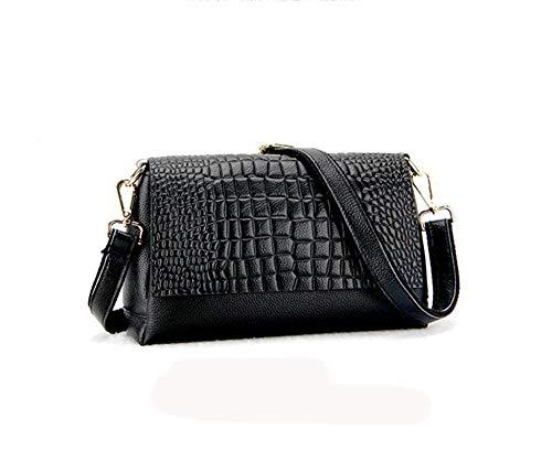 Female B Layer Fashion Bag Hongge Bag Leisure Shoulder Leather Messenger Cowhide Lady Single Female Bag Baotou HOqUOx1