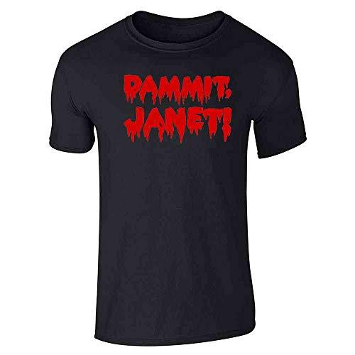 Pop Threads Dammit Janet! Funny Halloween Black 2XL Short Sleeve T-Shirt -