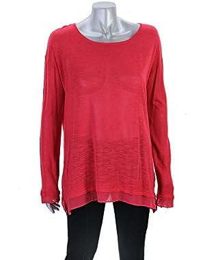 Calvin Klein Coral Long Sleeve Knit Top S