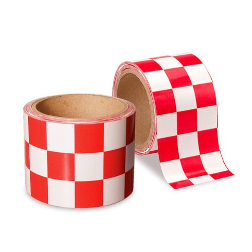 - Low Vision Checkerboard Adhesive Tape: Red and White - 2 Inch Wide