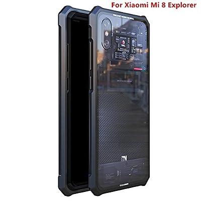 Xiaomi Mi 8 Explorer/MI 8UD Fingerprint Edition Case,DAYJOY Luxury Design Premium Aluminum Metal Shockproof Bumper Frame Case with Tempered Glass Back Cover for Xiaomi Mi 8 Explorer/Mi 8UD (Black) - 4001114 , B07DZ3ZJP5 , 454_B07DZ3ZJP5 , 22 , Xiaomi-Mi-8-Explorer-MI-8UD-Fingerprint-Edition-CaseDAYJOY-Luxury-Design-Premium-Aluminum-Metal-Shockproof-Bumper-Frame-Case-with-Tempered-Glass-Back-Cover-for-Xiaomi-Mi-8-Explorer-Mi-8UD-Black-454_B07DZ3ZJP5 ,