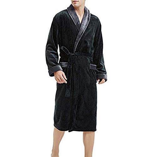 YOcheerful Men's Bathrobe Bath Robe Plus Size Loungewear Winter Sleep Bottoms Pajama Set - Sleep Ball Dragon Z Wear