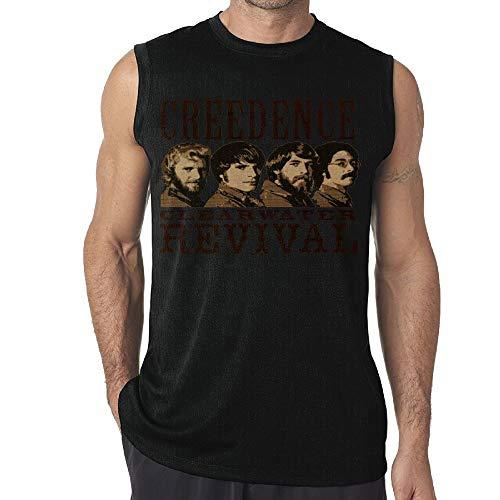 SeanDouglas Men's Creedence Clearwater Revival Vest Fashion Sleeveless T Shirt Boys Tank Tops 3X - Exo Dri Short
