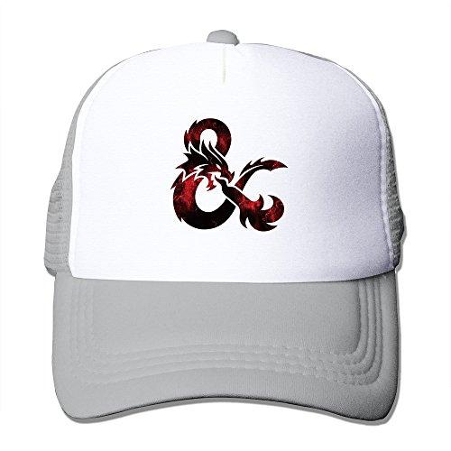 Cool Dungeons & Dragons Trucker Mesh Baseball Cap Hat Ash