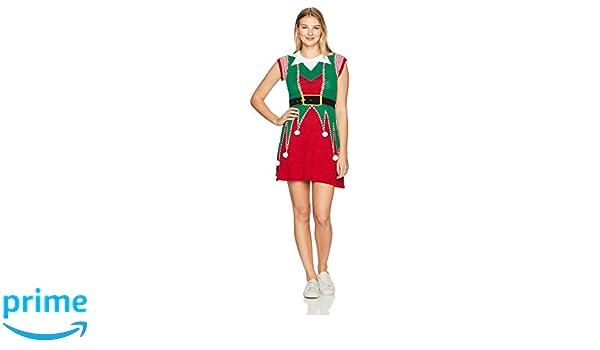Ugly Christmas Sweater Women's Elf Sweater Dress